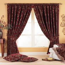 Jc Penney Curtains Chris Madden by Claret Red Venice Heavy Weight Luxury Jacquard Curtain Alfa Img