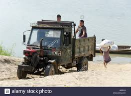 Small Truck With Exposed Diesel Engine, Beside Ayeyarwaddy River ...