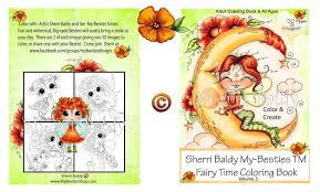 Trixie The Halloween Fairy Pictures by Scrapbook Stamp Society My Besties Coloring Books On Amazon