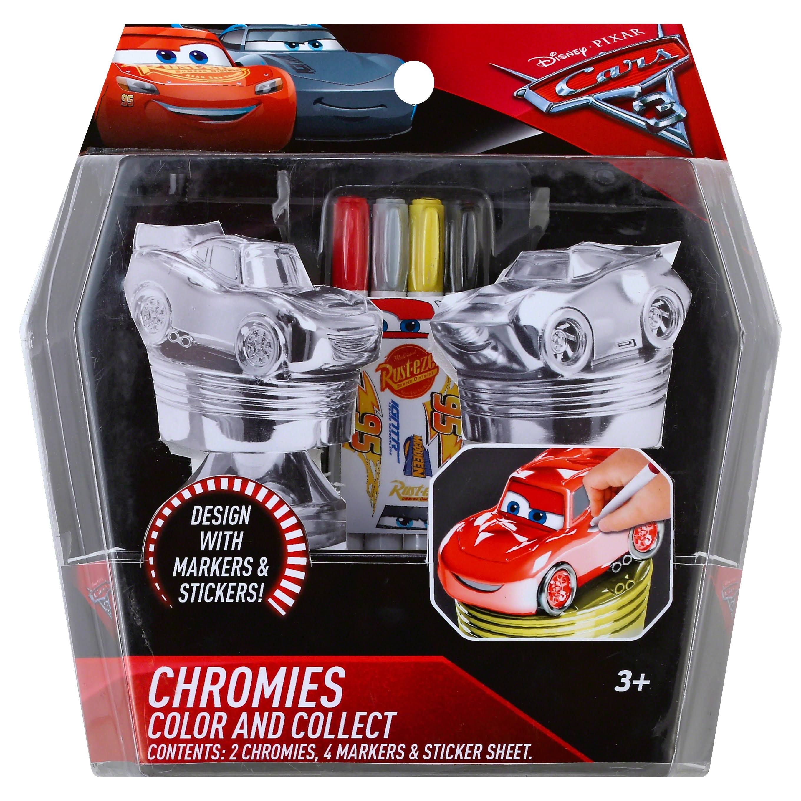 Disney Pixar Cars 3 Chromies Color and Collect Activity Playset