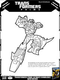 Transformers Bumblee Coloring Page