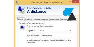 enregistrer les paramètres d une connexion bureau à distance