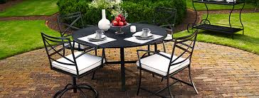 Meadowcraft Patio Furniture Glides by Wrought Iron Patio Furniture Christy Sports Patio Furniture