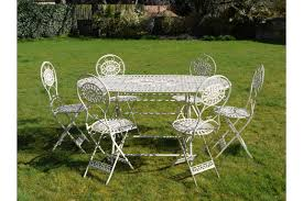 ANTIQUE SHABBY CHIC FRENCH WHITE METAL IRON GARDEN TABLE CHAIRS PATIO  BISTRO SET Brompton Metal Garden Rectangular Set Fniture Compare 56 Bistro Black Wrought Iron Cafe Table And Chairs Pana Outdoors With 2 Pcs Cast Alinium Tulip White Vintage Patio Ding Buy Tables Chairsmetal Gardenfniture Italian Terrace Fniture Archives John Lewis Partners Ala Mesh 6seater And Bronze Home Hartman Outdoor Products Uk Our Pick Of The Best Ideal Royal River Oak 7piece Padded Sling Darwin Metal 6 Seat Garden Ding Set