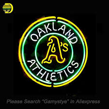 neon sign for sport oakland athletics neon bulbs sign handmade