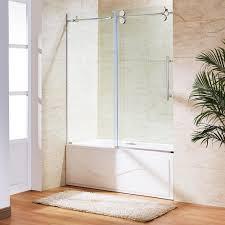 vigo elan 60 in x 66 in frameless sliding tub door in chrome