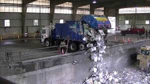 Garbage Trucks Unloading - Part 2 - YouTube