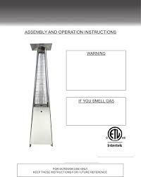 Hiland Patio Heater Manual by Az Patio Heaters Hlds01 Gthg Instructions Assembly