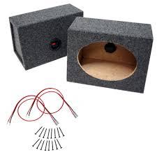 100 Speaker Boxes For Trucks Car Audio Universal Wedge 6 X 9 Sealed Enclosure