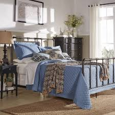 West Antique Industrial Lines Iron King size Metal Bed by iNSPIRE