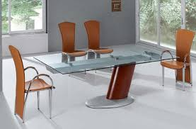 Glass Dining Room Furniture Amazing Contemporary Sets Throughout