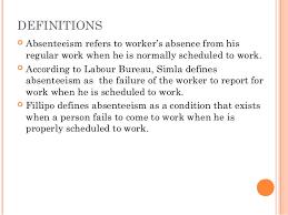 absence bureau absenteeism
