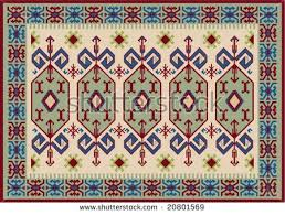 Traditional Turkish Carpet Stock Vector Royalty Free 20801569