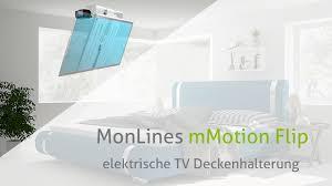 monlines mmotion flip elektrische tv deckenhalterung produkt