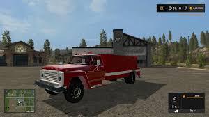 100 Ford Truck Games 1972 FORD F600 FIRE TRUCK V10 FS17 Farming Simulator 17 2017 Mod