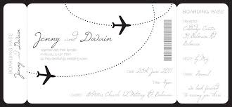 Boarding Pass Invitations Template Wedding Invitation Free