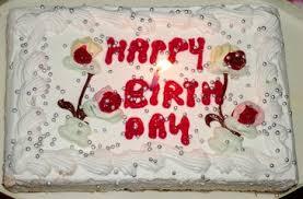 Flaming Cake happy birthday