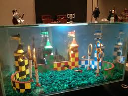 Spongebob Fish Tank Decorations by My Lego Quidditch Aquarium At My Office Harrypotter