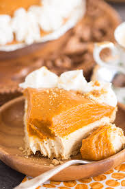 Pumpkin Layer Cheesecake by No Bake Double Layer Biscoff Pumpkin Cheesecake The Gold Lining