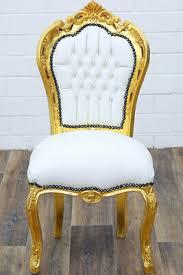 barock stuhl kaufen esszimmerstuhl lederlook weiß gold
