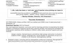 Sample Resume Commercial Banker Awesome Preschool Teacher