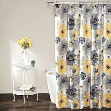 Gray And Yellow Bathroom Decor Ideas by Amazon Com Lush Decor Leah Shower Curtain 72 Inches X 72 Inches