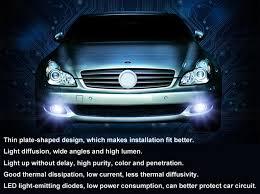 2pcs car led h11 fog lights high power headlight bulbs white 12v