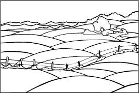Simple Landscape Coloring Pages 2