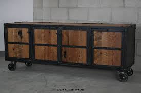 Reclaimed Wood Media Console Industrial Credenza Modern Buffet Rustic Entertainment Center Mid Century Design Handmade Furniture