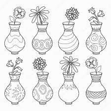Coloriage De Fleur Dans Un Vase 123Coloriage
