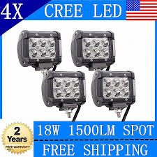 Flood Lights: Truck Flood Lights Elegant 4x 18w Cree Led Work Lights ... Truck Lite Led Spot Light With Ingrated Mount 81711 Trucklite Work Light Bar 4x4 Offroad Atv Truck Quad Flood Lamp 8 36w 12x Work Lights Bar Flood Offroad Vehicle Car Lamp 24w Automotive Led Lens Fog For How To Install Your Own Driving Offroad 9 Inch 185w 6000k Hid 72w Nilight 2pcs 65 36w Off Road 5 72w Roof Rigid Industries D2 Pro Flush Mount 1513 180w 13500lm 60 Led Work Light Bar Off Road Jeep Suv Ute Mine 10w Roundsquare Spotflood Beam For Motorcycle