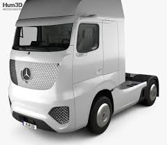 100 Mercedez Truck MercedesBenz Future With HQ Interior 2025 3D Model Vehicles