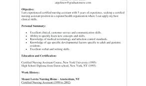 Cna Resume Download By Examples 2016