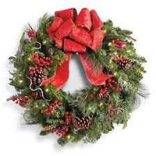 Frontgate Christmas Trees Uk by Holiday Wreaths Artificial Christmas Wreath Pre Lit Christmas