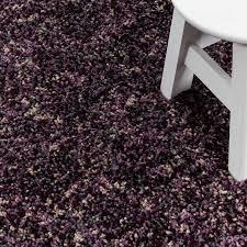 shaggy teppich hochwertig hochflor wohnzimmer lila grau beige meliert