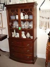 vtg antique duncan phyfe sheraton flaming mahogany china corner