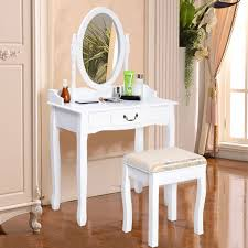 Vanity Mirror Dresser Set by Shabby Chic Dressing Table Mirror Vanity Makeup Drawer Stool Desk