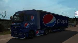 MERCEDES MP3 PEPSI COMBO V1 | ETS 2 Mods - Euro Truck Simulator 2 ... Uncle D Logistics Pepsi Kenworth W900 Skin Mod American Truck Pepsicola Colctibles Truck Chevrolet By Juliosaez On Deviantart Freight Semi Trucks With Pepsi Logo Driving Along Forest Road Driver Uninjured In Train Crash Biloxi The Sun Herald Pepsico Orders 100 Tesla Semi Trucks Largest Order To Is Rallying After Places An Order For Semis Tsla Auto Remor Srl Mickey Bodies Parade Youtube