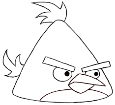 Angry Birds Coloring Pages Chuck Yellow Bird