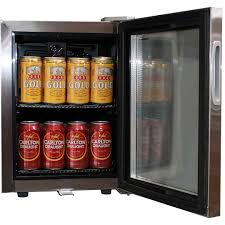 Mini Glass Door Bar Fridge All Stainless Steel With Lock And Small
