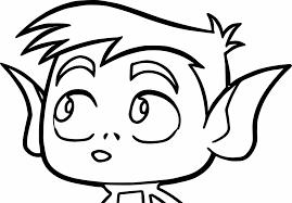 Pie Bros Teen Titans Go Robin Beast Boy Coloring Page