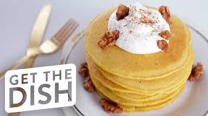Easy Pumpkin Pancake Recipe by Easy Pumpkin Spice Pancakes Recipe Get The Dish Youtube