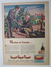1945 Italian Swiss Colony Wine W/Two Men Talking (Liquor) At ...