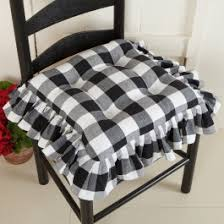 Buffalo Check Ruffled Chair Pad