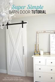 Super Simple Barn Door Tutorial | Make It And Love It Pallet Sliding Barn Doors Shipping Pallets Barn Doors Remodelaholic 35 Diy Rolling Door Hdware Ideas Ana White Cabinet For Tv Projects The Turquoise Home Fabulous Sliding Door Ideas Space Saving And Creative When The Wifes Away Hulk Will Play Do Or Tiny House Designs And Tutorials From Thrifty Decor Chick 20 Tutorials