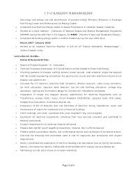 Experienced Electrical Engineer Resume Doc Resumes Engineering Responsibilities For Sample Electrician E Freshers