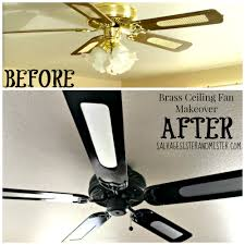 Pottery Barn Ceiling Fans With Lights by Brass Ceiling Fan Makeover Orc Salvage Sister And Mister
