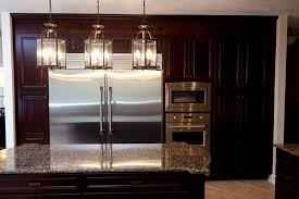 simple lantern style 3 light kitchen island lighting kitchen