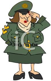 Cartoon Of A Female Military Officer