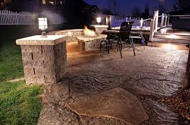 Outdoors Unique Outdoor Industrial Patio Lighting Ideas Featuring